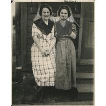 1921 Press Photo Loretta Huffman, Glee Muncy Want to Trade Husbands, Boston
