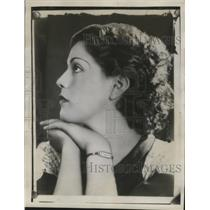 1934 Press Photo Actress Celia Villa - neo09314