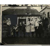 1922 Press Photo Charles Lanahan Family of 13, Louisville, Kentucky - neo09630