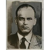 1934 Press Photo Stanislas Krauss under arrest as alleged spy - neo10085