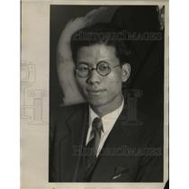 1929 Press Photo Tak-Wan Leung of Wooster College - neo10090