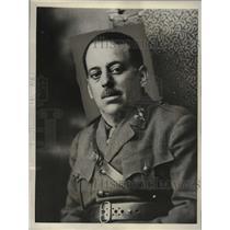 1932 Press Photo Gen. Jose San Jurjo Leader of Spanish Army Marching to Seveille