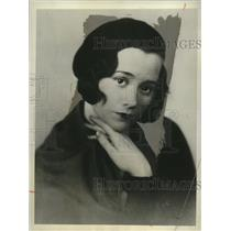 1931 Press Photo Lill-Tollie Zellman Swedish Actress - neo10436