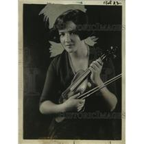 1921 Press Photo Pauline Thayer, Violinist & Daughter of John B. Thayer
