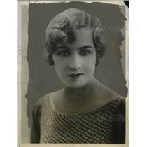1927 Press Photo Actress Jeanette Gilmour Breaks Engagement GC Weightman-Smith