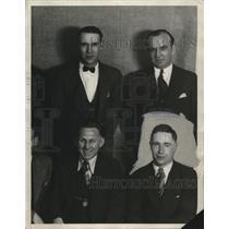 1929 Press Photo St. Stephens Soccer Players Johnny Cambell, Frank Zatyko, etc.