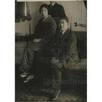 1916 Press Photo Hotel Owner Aisaku Hayashi & Wife at Hotel Biltmore New York