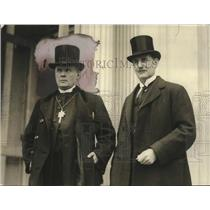 1923 Press Photo Nathan Sederblom & Axel Wellenberg of Sweden at White House