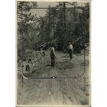 1925 Press Photo Yosemite National Park Road Building, California - neo13063