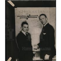 1919 Press Photo Chuck Harley, Hank Gowdy - neo13117