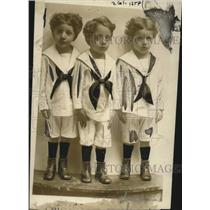 1921 Press Photo Triplets Roosevelt, Taft, & Wilson of C. Charles Rich