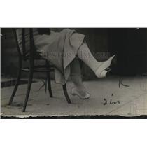 1913 Press Photo Woman's Feet in High Heels - neo13842