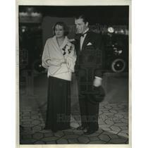 "1932 Press Photo Estelle Taylor, Lyle Talbot at ""Blessed Events"" Premier"