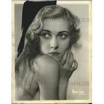 1933 Press Photo Joan Olsen radio star on Columbia Broadcasting - neo14862