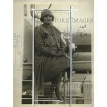 1927 Press Photo Winifred Sackville Stoner feminist aboard a liner ship