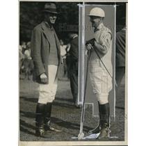 1923 Press Photo Captains Harriman and Stoddard of Orange Cnty & Bhalburne Teams
