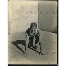 "1930 Press Photo Robert ""Cinders"" Klenck of St. Mary's, KS Grid & Track Star"