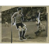 1926 Press Photo Two men face off in a soccer match  - neo16388