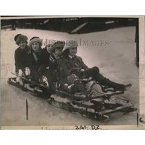 1920 Press Photo Sno Carnival at Lake Placid L.M. & Kathleen Tuttle, J. Garret