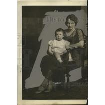 1931 Press Photo McKinley Duncan and Daughter Ann Elizabeth Move from Texas