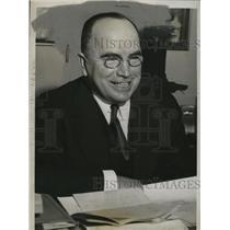 1938 Press Photo Dr. G. Bromley Oxman, Bishop Threatened by Elizabeth Dilling