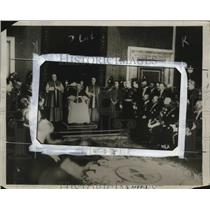 1929 Press Photo Pope Heads His First Court - neo17826