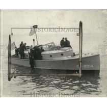 1929 Press Photo Woody Hockady rescued by Coast Guard at a conference site