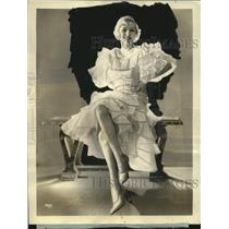 """Press Photo Mrs. Jack Osterman for CBS """"Sunday Matinee of the Air"""" - neo18329"""