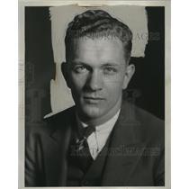 1933 Press Photo Frank Kallister, Speaker at Slovene Progressive Benefit Society