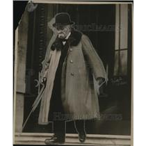 1919 Press Photo French Premier Clemencesu at Quay de Orsay conference