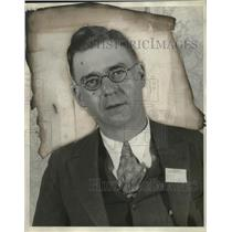 1929 Press Photo Mark Byers, Two Rivers Reporter, WI - neo21483