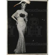 1935 Press Photo Jacqueline Kneip Wieland leaves for Hollywood - neo21897