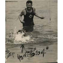 1924 Press Photo E, J. Demson, Swimming Instructor, Board of Education