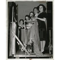 1941 Press Photo Mrs. Dan Hayman, Mrs. Joseph Rosesweig, Mrs. H. Wilkoff