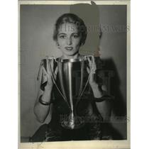 1933 Press Photo Diana Chase, Miss Radio National Electric & Radio Exposition
