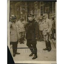 1916 Press Photo Gen. Humbert, Gen. Jaffre defend Verdun - neo24287