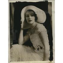 1931 Press Photo Margit Rosengren Swedish musical comedy star - neo24446