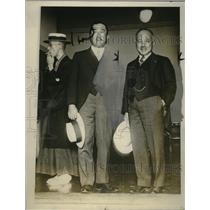 1928 Press Photo Japanese ambassador Tsuneo Matsudaira & Katsuji Debuehi