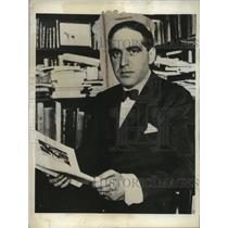 1931 Press Photo Don Julian Sesteiro President of Spanish Cortes - neo25800