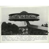 """1983 Press Photo World's newest ride """"Island in the Sky"""" at Cypress Gardens Fl."""