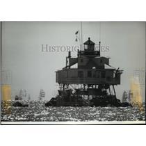 1983 Press Photo Thomas Point Light a classic screw-pile lighthouse - spa65031