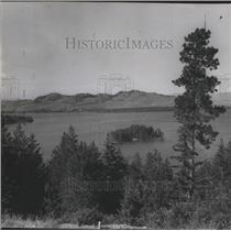 1956 Press Photo Flathead Lake-majestic scene - spa76666