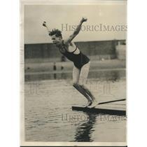 1929 Press Photo Bill Squires Takes Practice swim in Boston, Mass - sbs07089