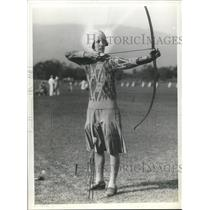 1929 Press Photo Beatrice Hodgson National Archery Champion  - sbs07106