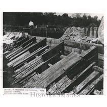 1953 Press Photo Alabama-Dam Number 8 at Warrior-Tombigbee River under repairs.
