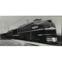 1955 Press Photo Steam-Electric Locomotive Dedicated at Erie, Pennsylvania