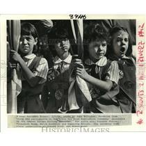1986 Press Photo Vanessa Phares, Elizabeth Wong, Emily Bordelon, Samantha Bryant