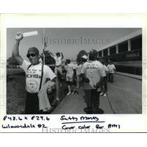 1994 Press Photo Metal Trades Union - Avondale Shipyard Members Demonstrate