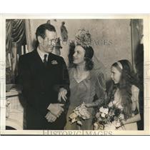 1940 Press Photo film maker Nunnally Johnson weds actress Dorris Bowdon
