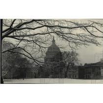 1922 Press Photo View of the Nation's Capitol after season's first snow fall